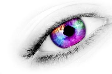 Multicolored eye