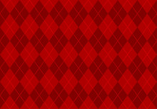 Red Argyle Pattern