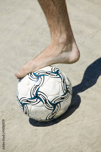 Foto op Plexiglas Zebra Beach Soccer