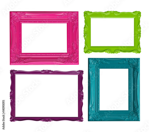 Colorful picture frames - Buy this stock photo and explore similar ...