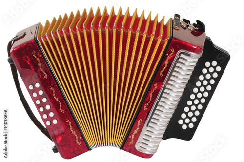 Fotografía  Accordion. Clipping path.