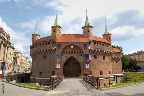Military building - Barbican in Krakow, Poland - 14115002