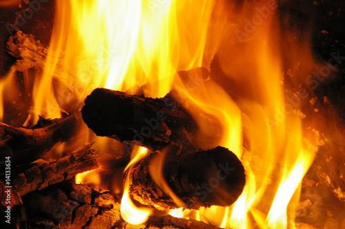 feuer, glut, kohle, glut, brennholz, feuerholz © masterric3000