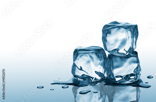 Fotografie, Obraz  three ice cubes