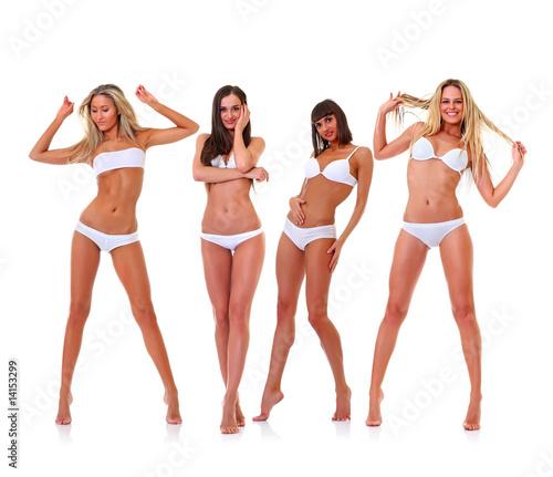 Fototapeta In white underwear obraz na płótnie