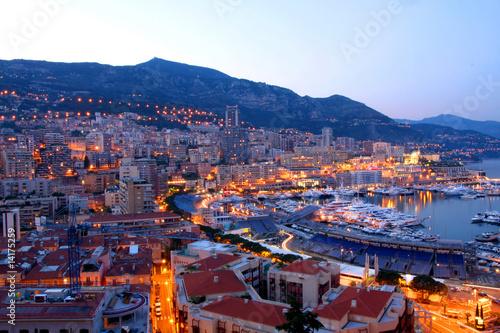 Foto-Kassettenrollo premium - Monaco at night (von Vladimir Mucibabic)