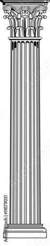 Fotografie, Obraz korinthische säule