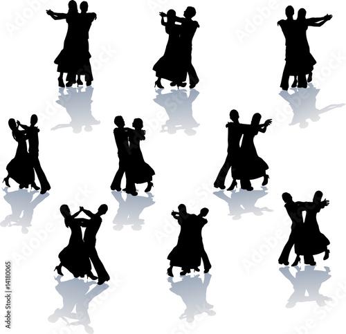 Ballroom Dance Silhouettes Canvas Print