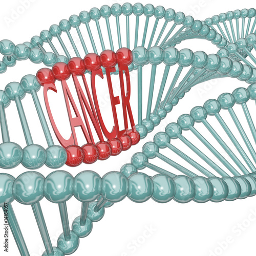 Fotografie, Obraz  Cancer Cause Hiding in DNA Strand
