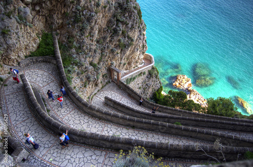 Garden Poster Napels Capri, la via krupp