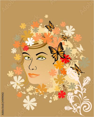 Floral femme floral woman