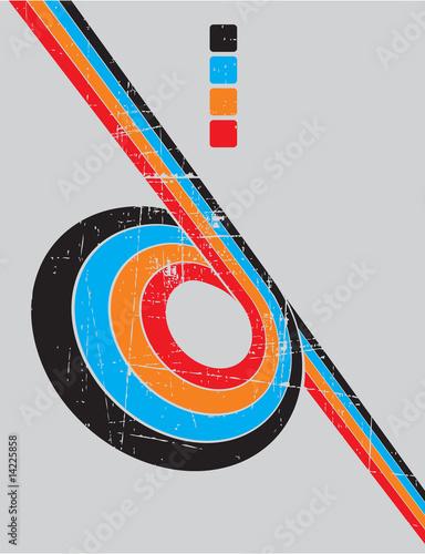 Fototapeta the vector retro grunge background obraz na płótnie