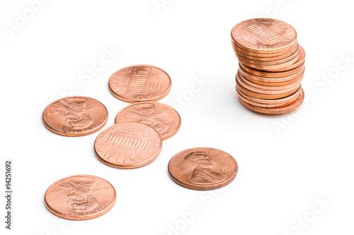 Fotografía  pile of U.S. coins