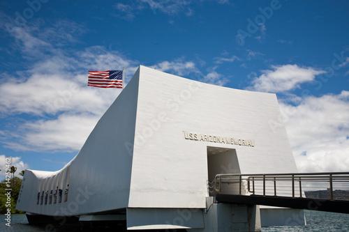 Photo  U.S.S. Arizona Memorial in Pearl Harbor.