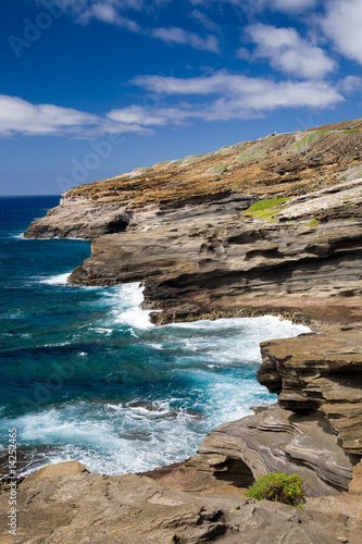 Foto-Kissen - Rocky coast of Oahu, Hawaii (von Donald Swartz)