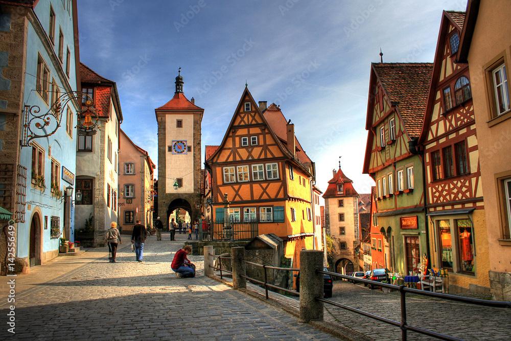 Fototapeta Rothenburg ob der Tauber - Medieval city in Germany