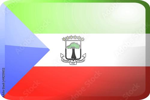 Fotografía  Flag of Equatorial Guinea button