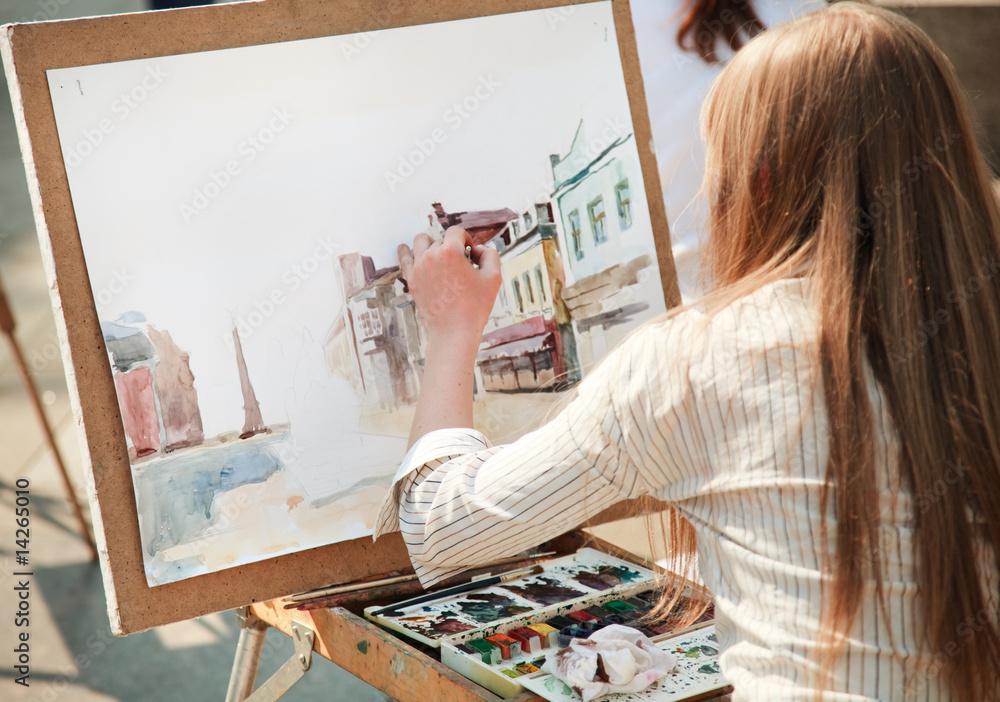Fototapety, obrazy: street artist