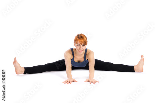 Young Woman doing Yoga Exercise Canvas Print