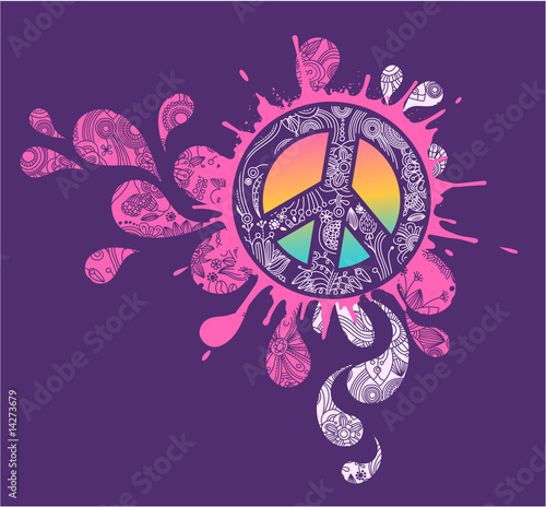 Photo  Peace Splatter graphic