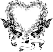 Vintage Valentine Heart Wreath...