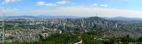 Fotobehang Seoel Panorama of Seoul, South Korea