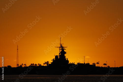 Photo  Sunset at Pearl Harbor