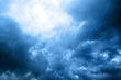 Leinwandbild Motiv cloudly sky with ray of sunlight