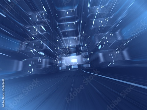 Papiers peints Tunnel abstract blue background