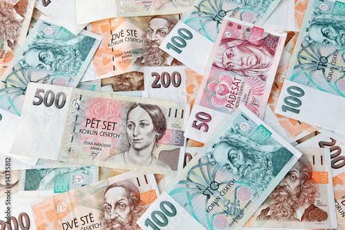 Photo  Geldscheine und Banknoten aus Tschechien