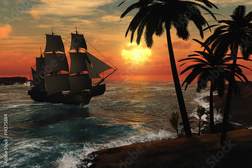 tall-ship-in-tropical-sunset