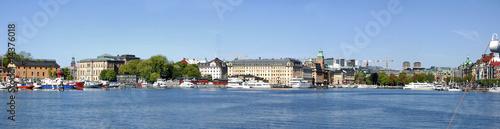 Poster Ville sur l eau Panorama von Stockholm