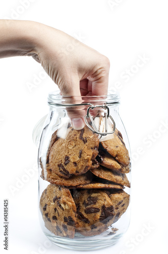 Obraz na plátně Hand in the cookie jar