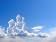 Leinwandbild Motiv fantasy castle in clouds