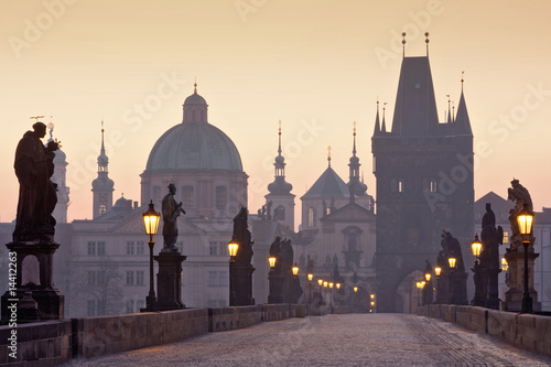 prague charles bridge Fototapete