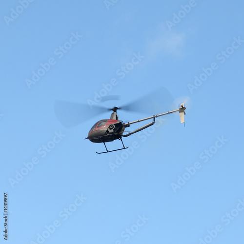 Staande foto modèle réduit d'hélicoptère