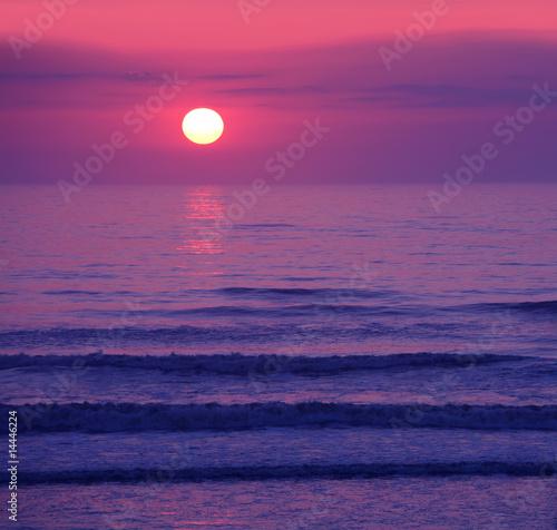 Beautiful pink sunset or sunrise