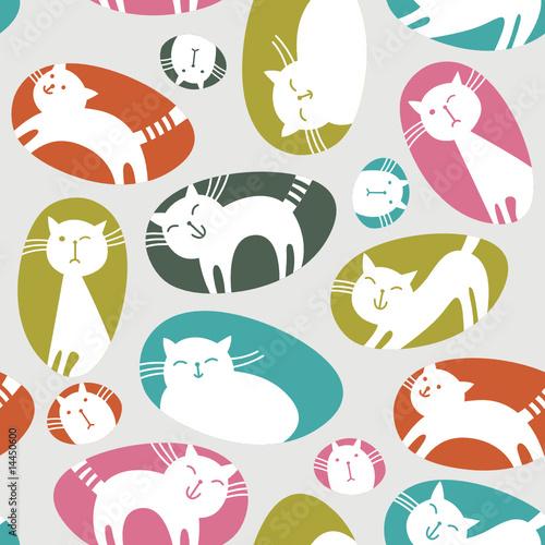 Printed kitchen splashbacks Cats seamless pattern