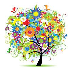 FototapetaFloral tree beautiful