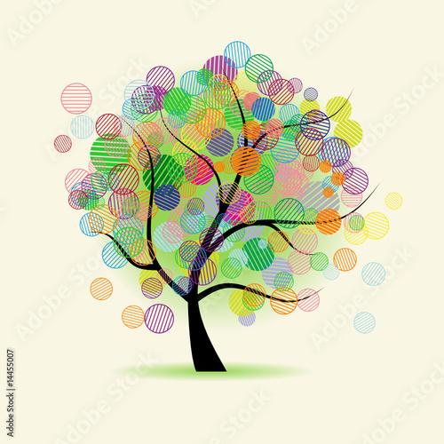 In de dag Regenboog Art tree fantasy