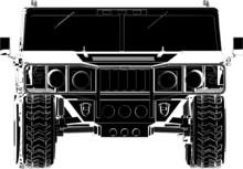 Jeep Offroad Car Vector 03