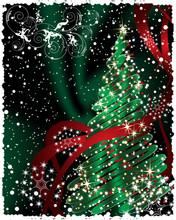 Christmas Tree - Vector Postcard