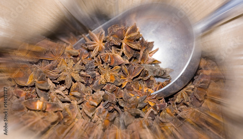 Wholesale spices of star anise at local market - Buy this stock