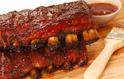 Stampa su Tela Slabs of BBQ Spare ribs
