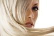 Leinwanddruck Bild - closeup of blond girl