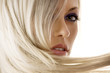 Leinwandbild Motiv closeup of blond girl