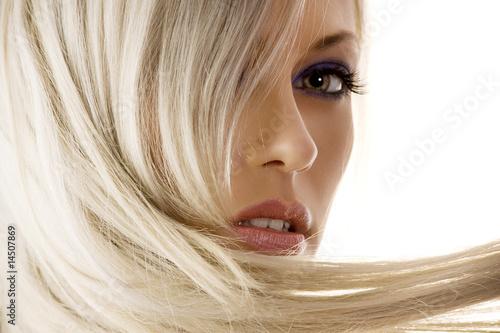 Leinwanddruck Bild - photoCD : closeup of blond girl