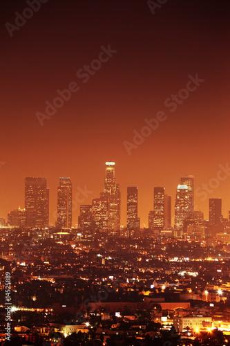 Autocollant - Downtown Los Angeles skyline