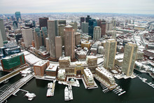 Boston After Snow From Air