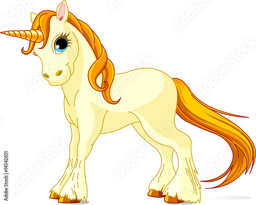 Garden Poster Pony Standing beautiful cute unicorn